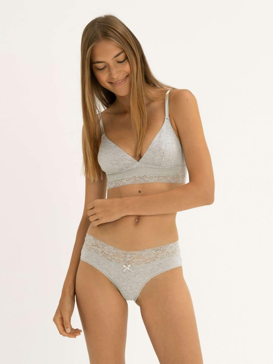 plain brief with lace