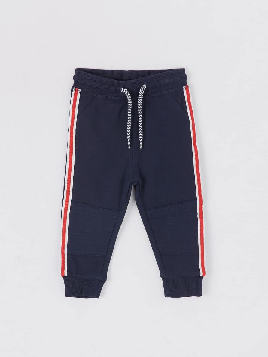 joggers with stripe