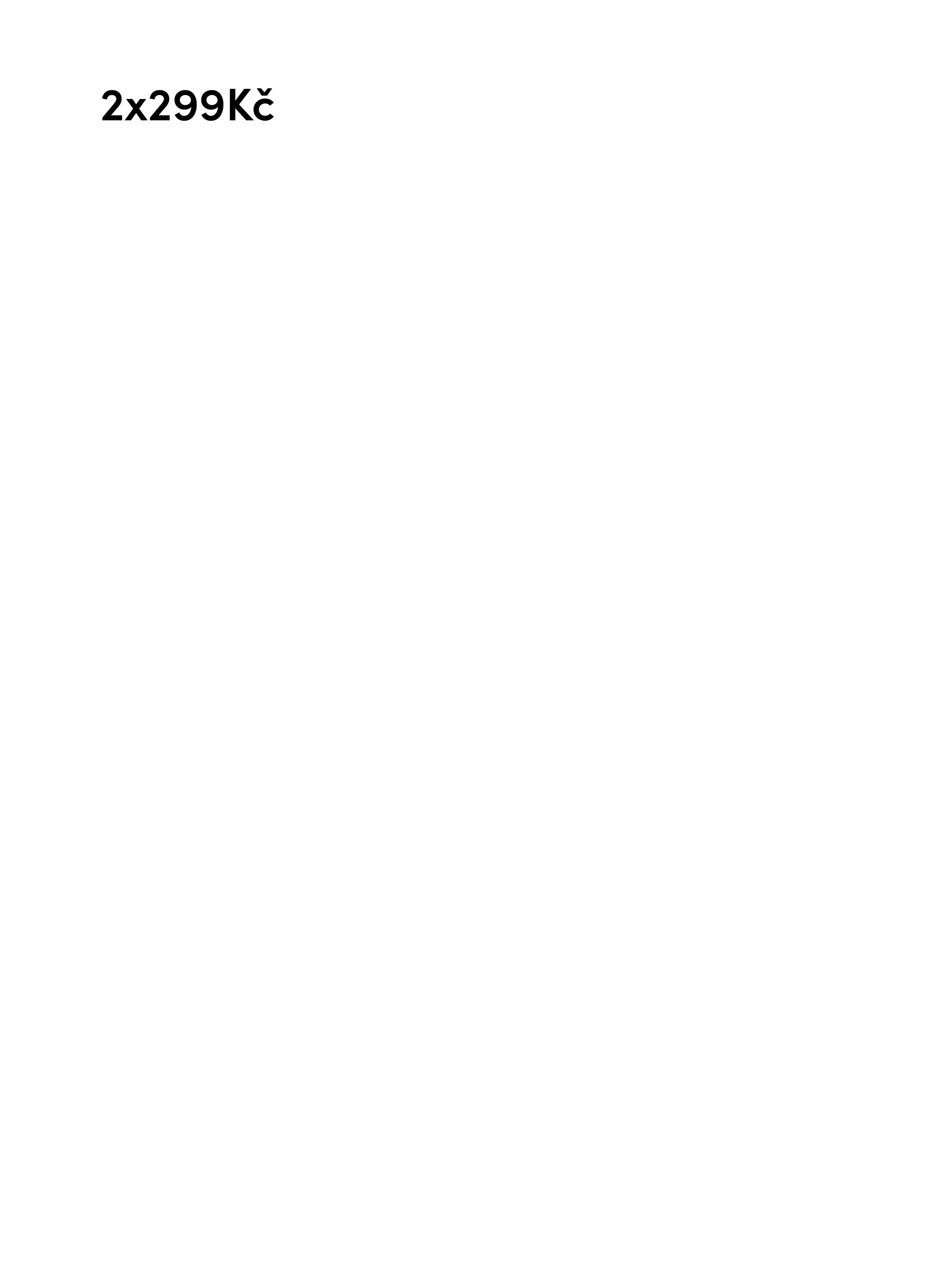 2x299Kč