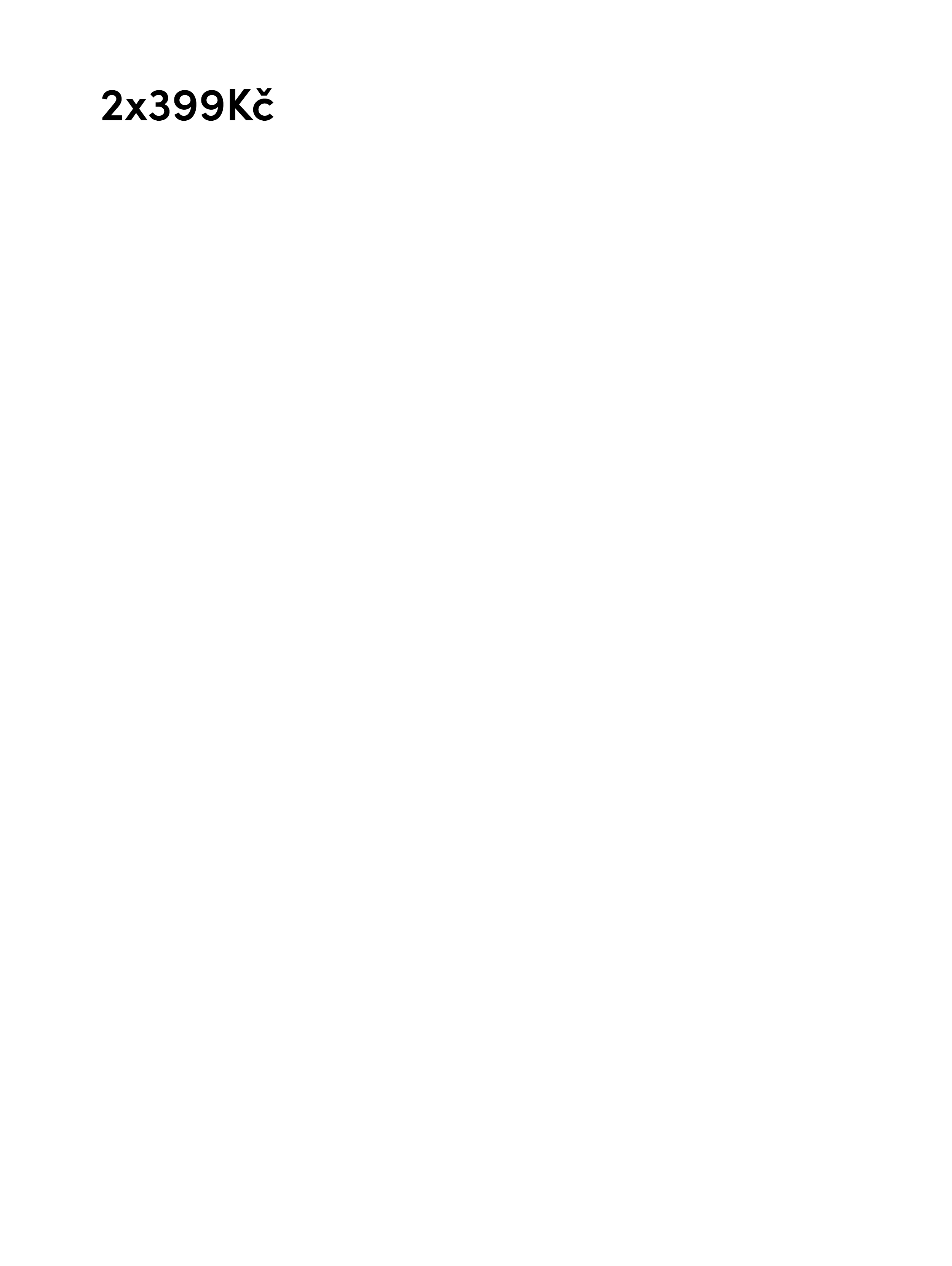 2x399Kč