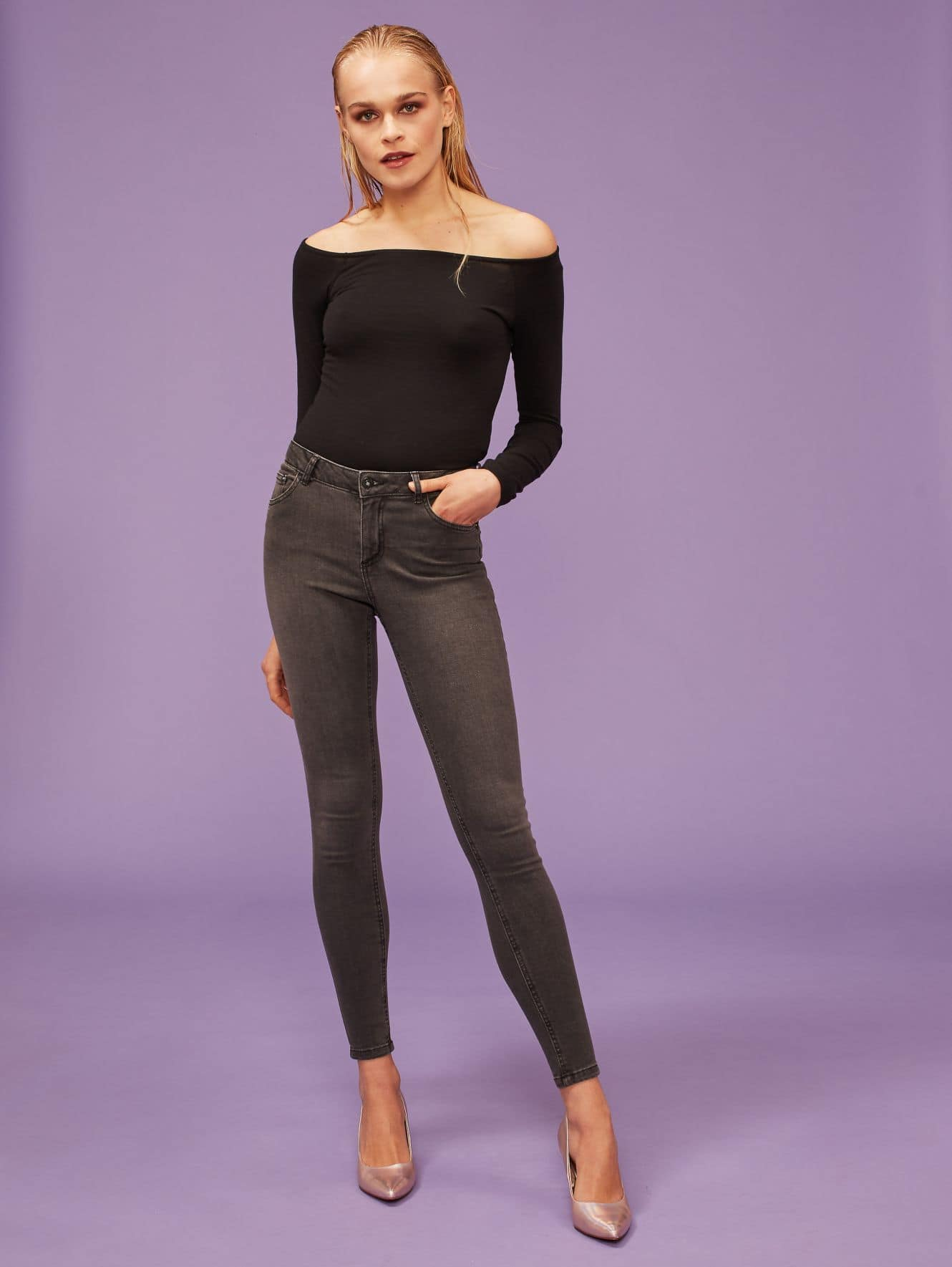 Black push-up jeans