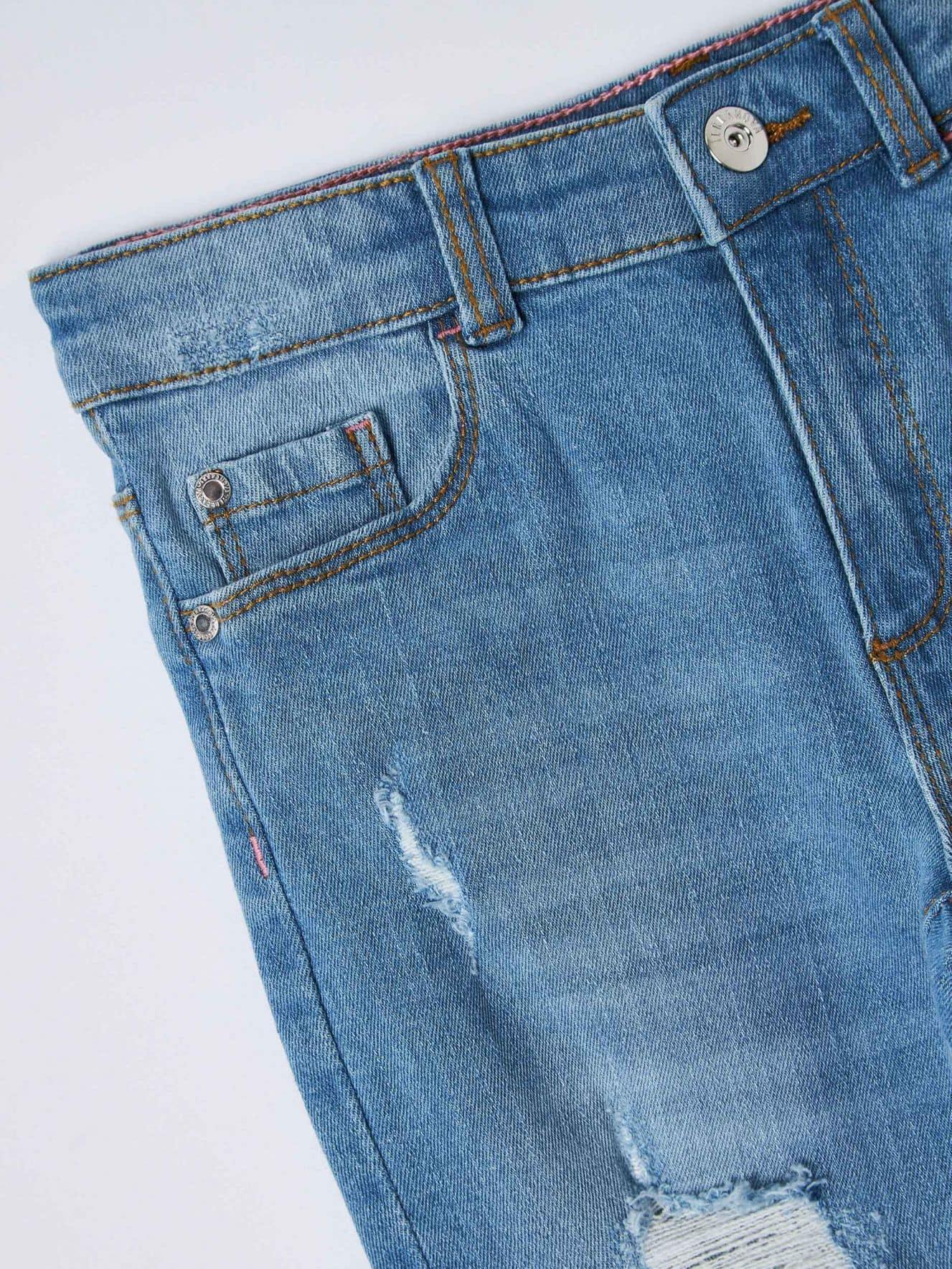 Pantalone Jeans Lungo Детски дрехи за момичета 010