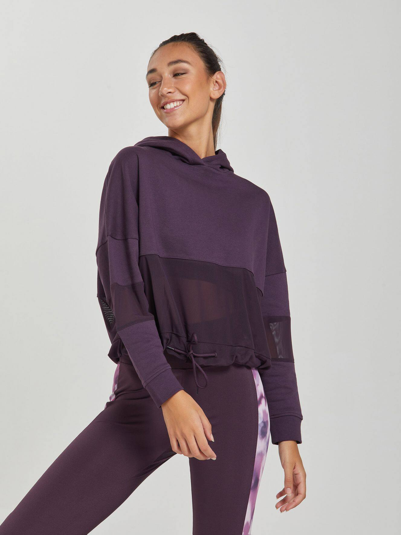 Maxi sweat active avec empiècements en mesh
