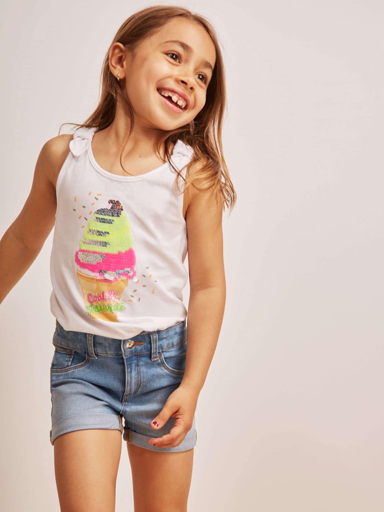 Pantalone Jeans Corto Bambina Kids
