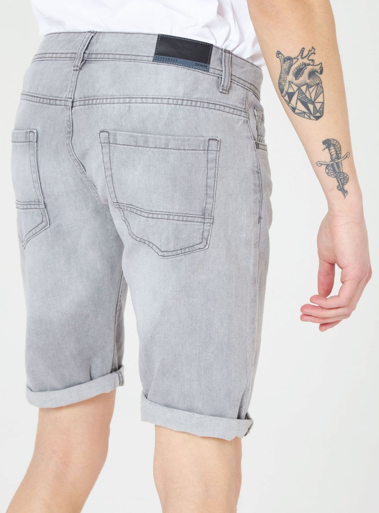 Pantalone Jeans Corto Uomo Terranova