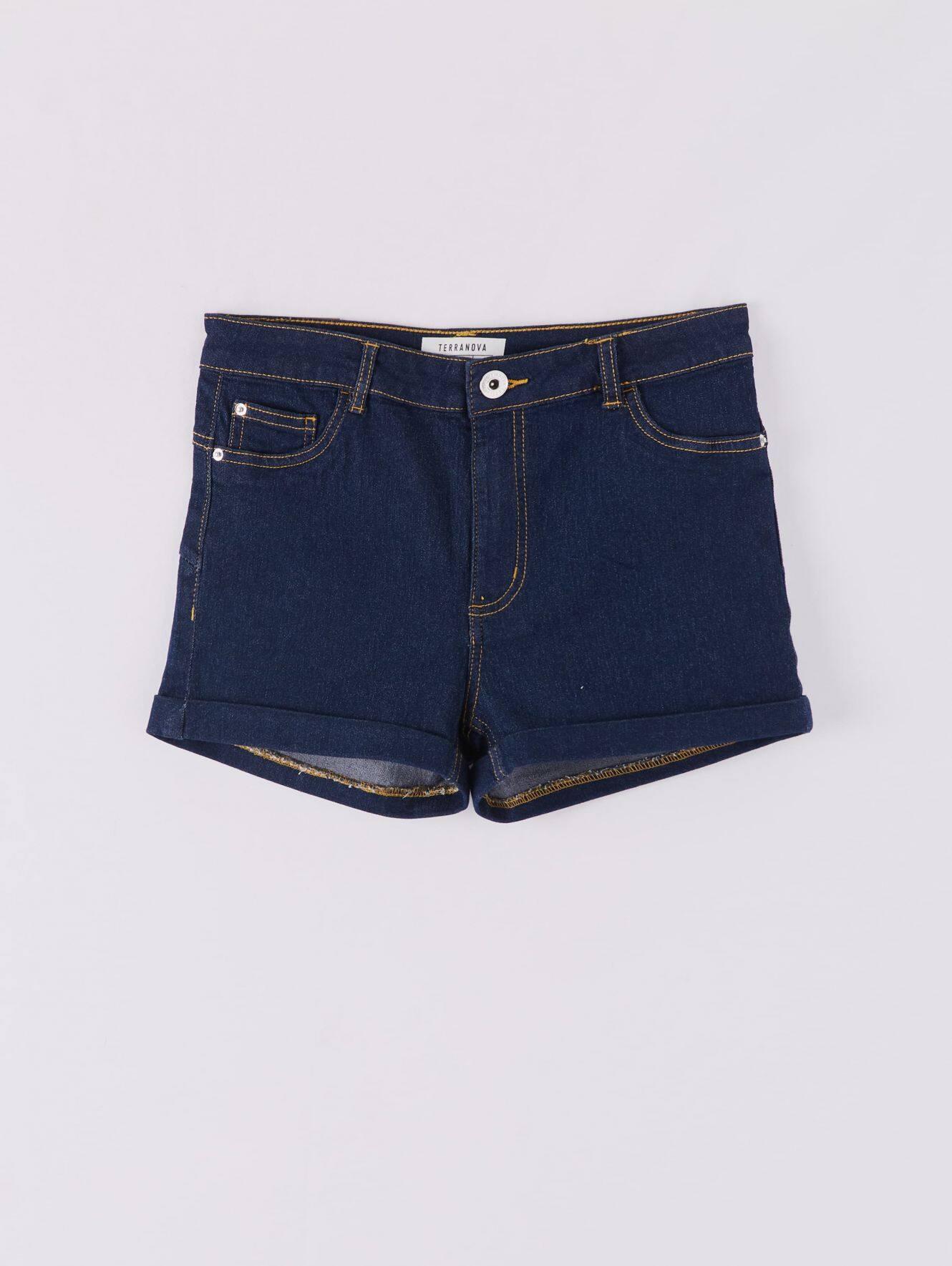 Pantalone Jeans Corto Mujer Terranova