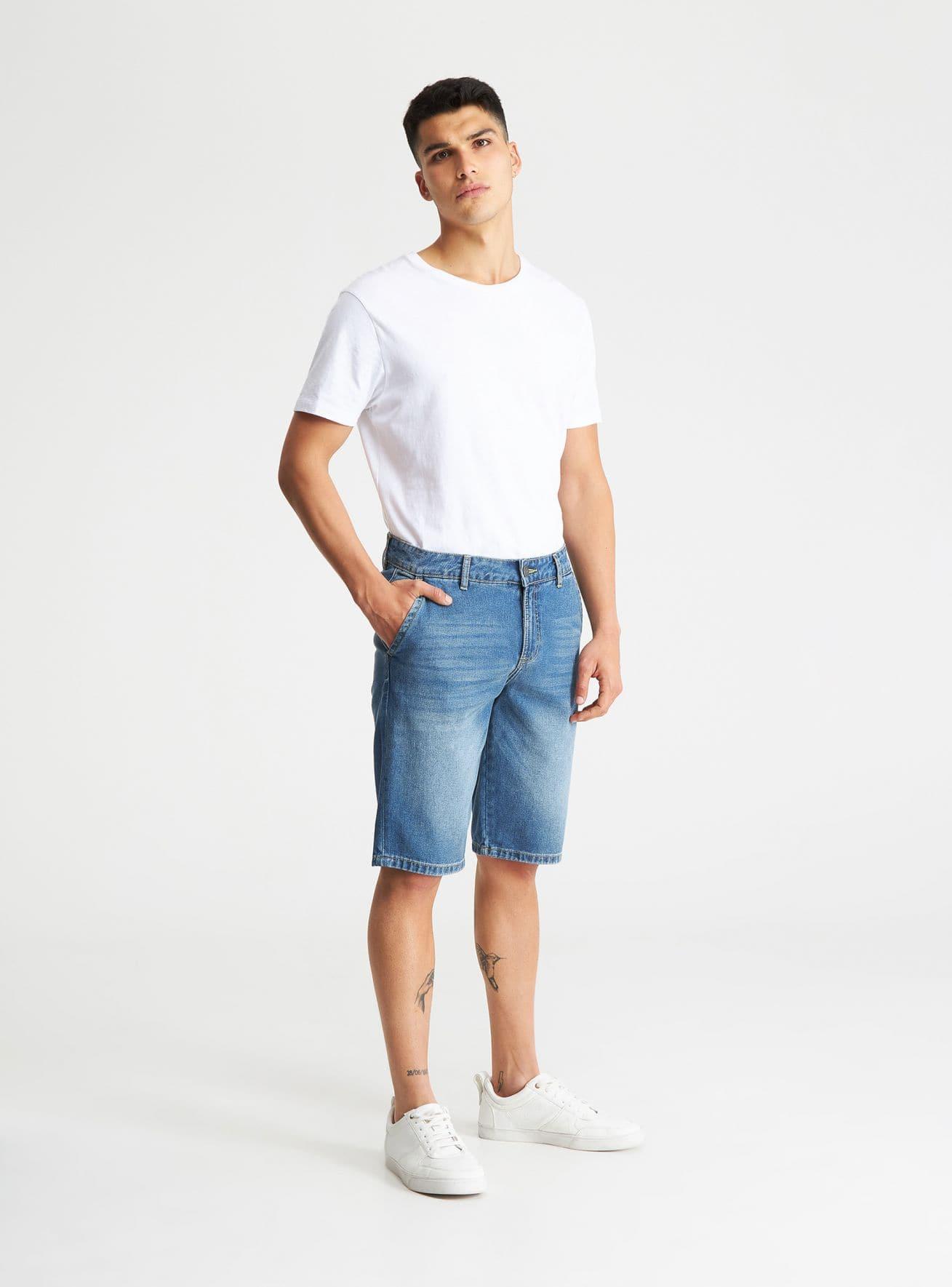 Pantalone Jeans Corto Hombre Terranova