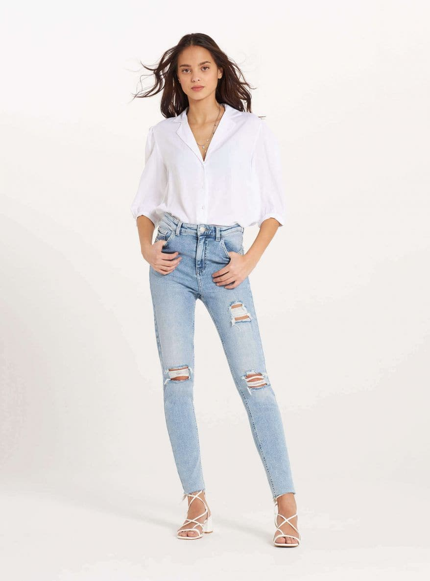 Long pants jeans Woman Terranova