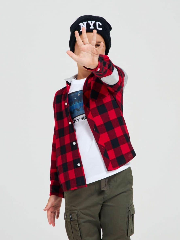 Рубашка с длинным рукавом Для мальчика 010