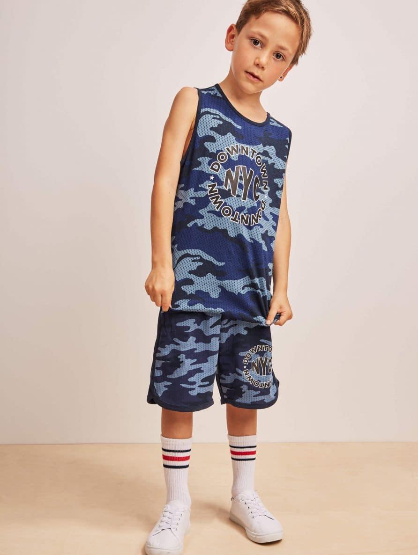 Къс спортен панталон Детски дрехи за момчета 010
