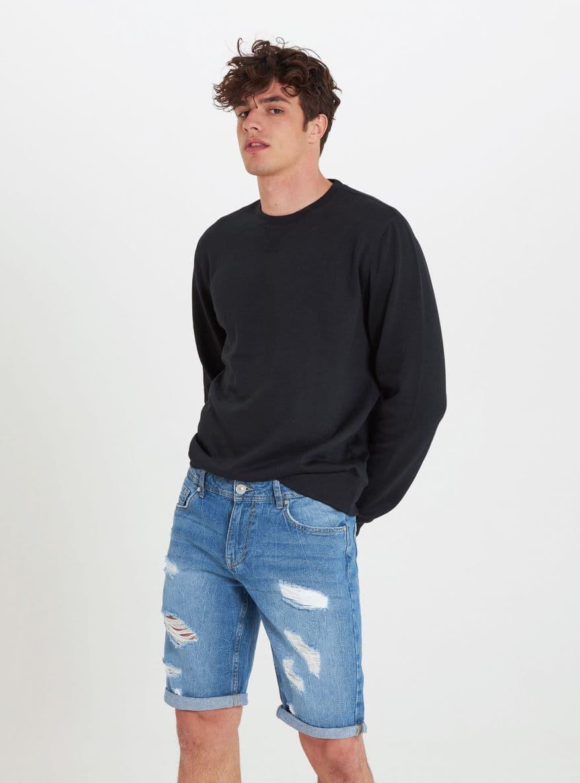 Krátke džínsové nohavice Muz Terranova