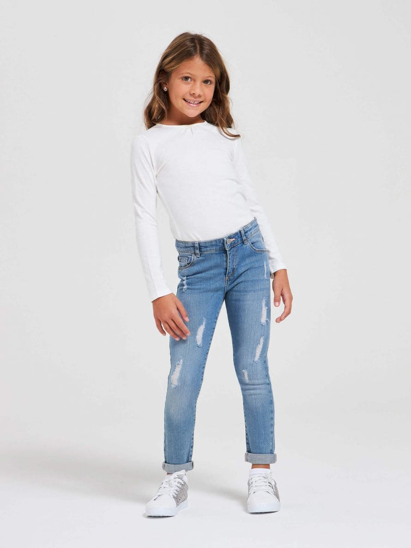 Dlhé džínsové nohavice Dievcatko 010
