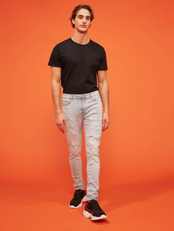 Pantalone Jeans Lungo Homme Terranova