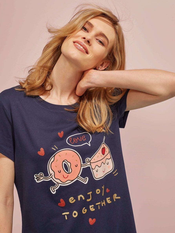 Тениска с къс ръкав Дамско 020