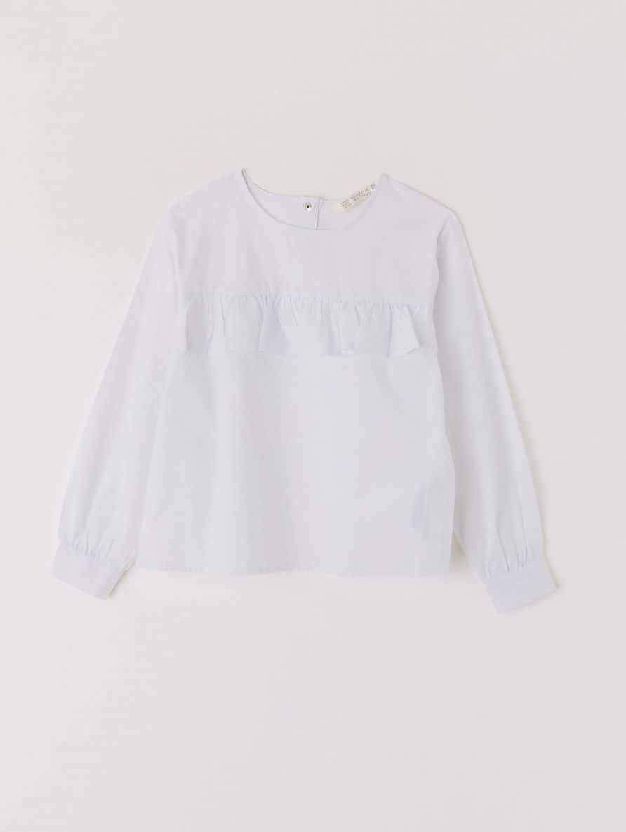blouse with ruches