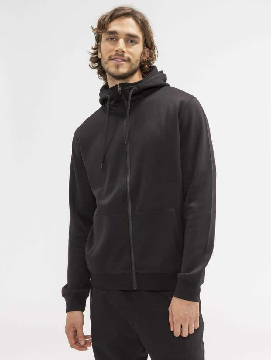 technical hooded sweatshirt